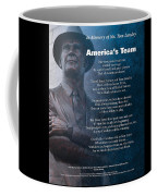 America's Team Poetry Art Coffee Mug by Stanley Mathis
