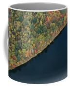 An Aerial View Of A Forest In Autumn Coffee Mug by Heather Perry