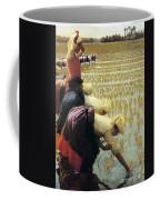 An Italian Rice Field Coffee Mug by Angelo Morbelli