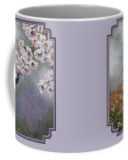 Wolf Pup - Baby Blossoms Coffee Mug by Crista Forest