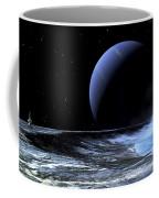Astronaut Standing On The Edge Coffee Mug by Frank Hettick