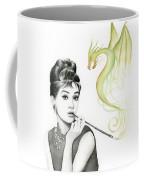 Audrey And Her Magic Dragon Coffee Mug by Olga Shvartsur