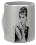 Audrey Hepburn Coffee Mug by Ylli Haruni