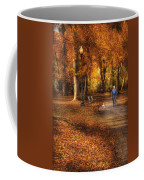 Autumn - People - A Walk In The Park Coffee Mug by Mike Savad