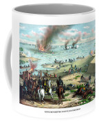 Battle Between The Monitor And Merrimac Coffee Mug by War Is Hell Store