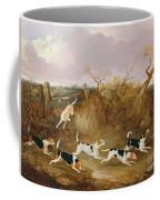 Beagles In Full Cry Coffee Mug by John Dalby