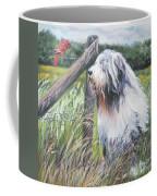 Bearded Collie With Cardinal Coffee Mug by Lee Ann Shepard