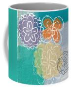 Big Flowers Coffee Mug by Linda Woods