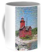 Big Red Photomosaic Coffee Mug by Michelle Calkins