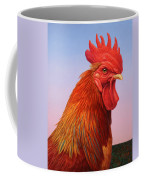 Big Red Rooster Coffee Mug by James W Johnson