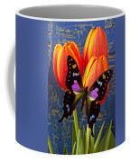 Black And Pink Butterfly Coffee Mug by Garry Gay
