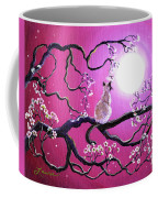 Blossoms In Fuchsia Moonlight Coffee Mug by Laura Iverson