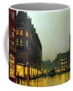Boar Lane Coffee Mug by John Atkinson Grimshaw
