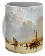 Boats On A River Coffee Mug by Aelbert Cuyp
