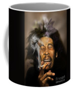 Bob Marley-burning Lights 3 Coffee Mug by Reggie Duffie