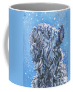 Bouvier Des Flandres Snow Coffee Mug by Lee Ann Shepard