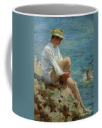 Boys Bathing Coffee Mug by Henry Scott Tuke