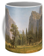 Bridal Veil Falls Yosemite Valley California Coffee Mug by Albert Bierstadt