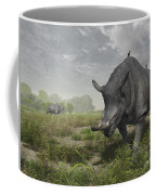 Brontotherium Wander The Lush Late Coffee Mug by Walter Myers