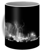 Budweiser Lightning Thunderstorm Moving Out Bw Coffee Mug by James BO  Insogna