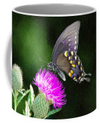 Butterfly And Thistle Coffee Mug by Jeff Kolker