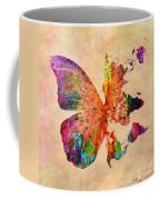 Butterfly World Map  Coffee Mug by Mark Ashkenazi