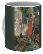 Cafe Concert At Les Ambassadeurs Coffee Mug by Edgar Degas