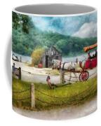 Car - Wagon - Traveling In Style Coffee Mug by Mike Savad