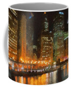 Chicago At Night Coffee Mug by Jeff Kolker