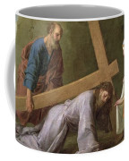 Christ Carrying The Cross Coffee Mug by Eustache Le Sueur