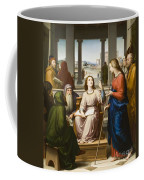 Christ Disputing With The Doctors In The Temple Coffee Mug by Franz von Rohden