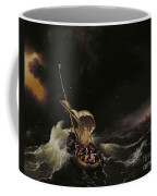 Christ In The Storm On The Sea Of Galilee Coffee Mug by Ludolph Backhuysen