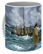 Christ Walking On The Sea Of Galilee Coffee Mug by Anonymous