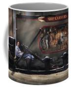 City - Ny South Street Seaport - Ship Carvers Coffee Mug by Mike Savad