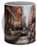 City - Ny - Walking Down Mercer Street Coffee Mug by Mike Savad