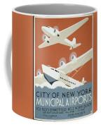 City Of New York Municipal Airports Coffee Mug by Christopher DeNoon