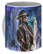Clarence Clemons Coffee Mug by Clara Sue Beym