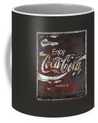 Coca Cola Grunge Sign Coffee Mug by John Stephens