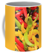 Colorful Chili Peppers  Coffee Mug by Carol Groenen