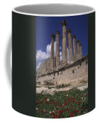 Columns In The Ancient Roman City Coffee Mug by Richard Nowitz