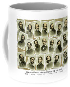 Confederate Commanders Of The Civil War Coffee Mug by War Is Hell Store