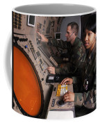Control Technicians Use Radarscopes Coffee Mug by Stocktrek Images