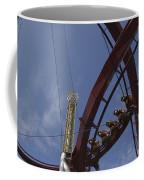 Copenhagen, Denmark, Rollercoaster Ride Coffee Mug by Keenpress
