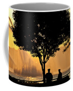 Cops Watch A Fireboat On The Hudson River Coffee Mug by Chris Lord