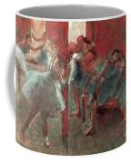 Dancers At Rehearsal Coffee Mug by Edgar Degas