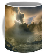 Dawn On Castle Geyser Coffee Mug by Sandra Bronstein