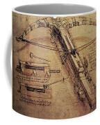 Design For A Giant Crossbow Coffee Mug by Leonardo Da Vinci