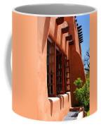 Detail Of A Pueblo Style Architecture In Santa Fe Coffee Mug by Susanne Van Hulst