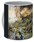 Dinosaurs And Volcanoes Coffee Mug by English School