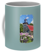 Door County Eagle Bluff Lighthouse Lilacs Coffee Mug by Christopher Arndt
